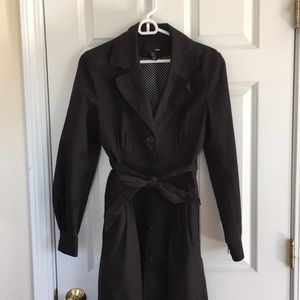 H&M black spring weight trench coat
